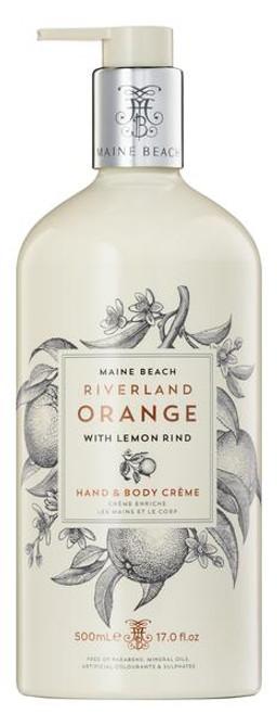 Hand and Body Cream 500ml RiverLand Orange