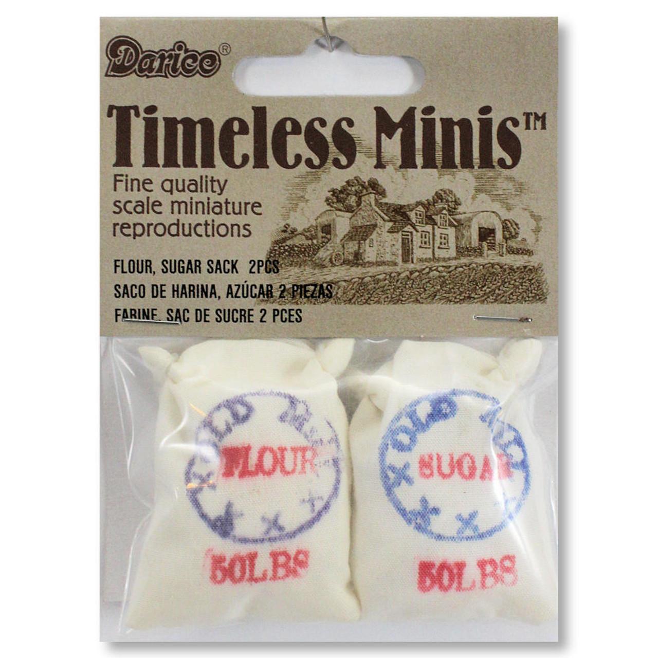 Dollhouse Miniatures Flour Sugar Sacks 2-Set Timeless Minis