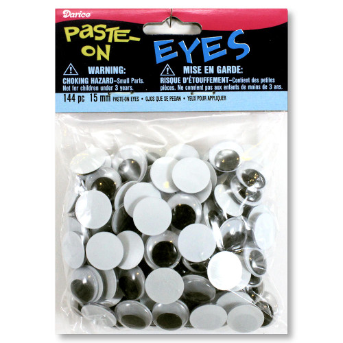 15mm Glue-On Wiggle Eyes Arts Crafts Supplies
