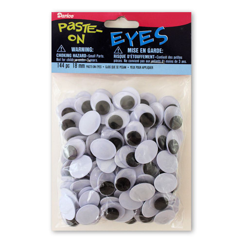 18mm Oval Glue-On Wiggle Eyes Arts Crafts Supplies