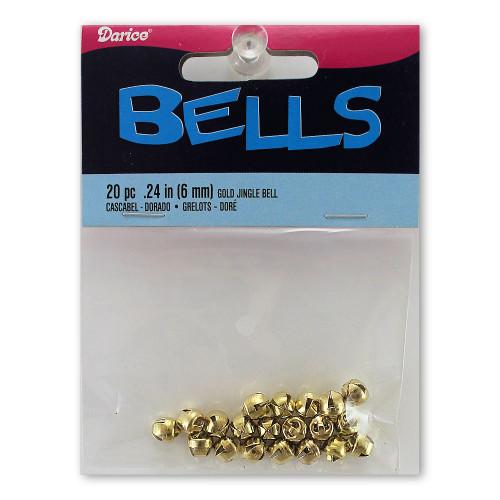 6mm Gold-Tone Jingle Bells Crafting Supplies