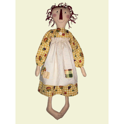 Barefoot Annie E-Pattern Primitive Raggedy Ann Doll Sewing Crafts