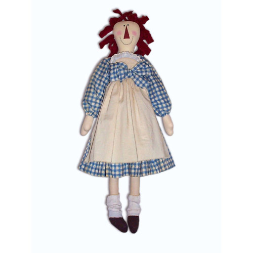 Country Primitive Raggedy Ann Doll Sewing E-Pattern Crafts