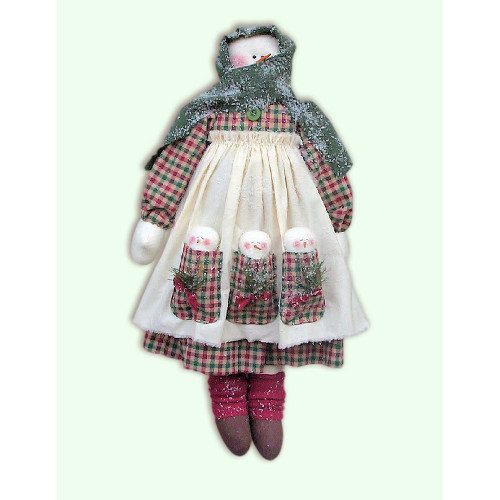 Snowman Lady Doll PDF E-Pattern Country Primitive Sewing Crafts