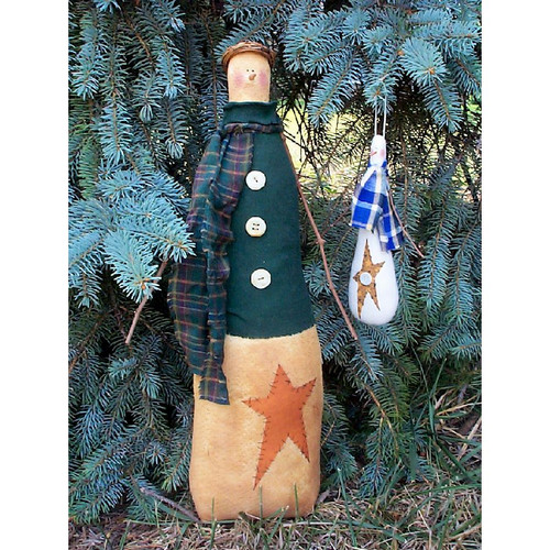 Primitive Snowman Printed Sewing Pattern Country Crafts