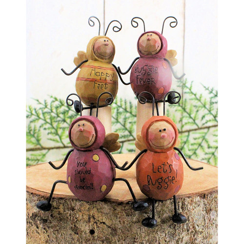 Miniature Dancing Garden Bugs Insects Figurines Country Cottage Home Decorating