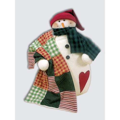 Country Primitive Snowman Doll Pattern Christmas Winter Crafts