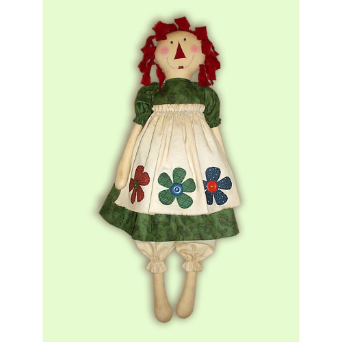 Raggedy Ann Doll PDF E-Pattern Country Primitive Garden