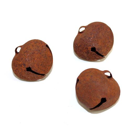 40mm Rusty Tin Jingle Bells Craft Supplies