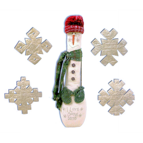 Country Primitive Snowman Snowflakes Sewing E-Pattern Crafts