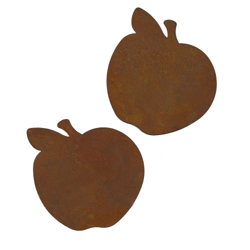 Rusty Tin Apple Cutouts Country Primitive Farmhouse Crafting Supplies