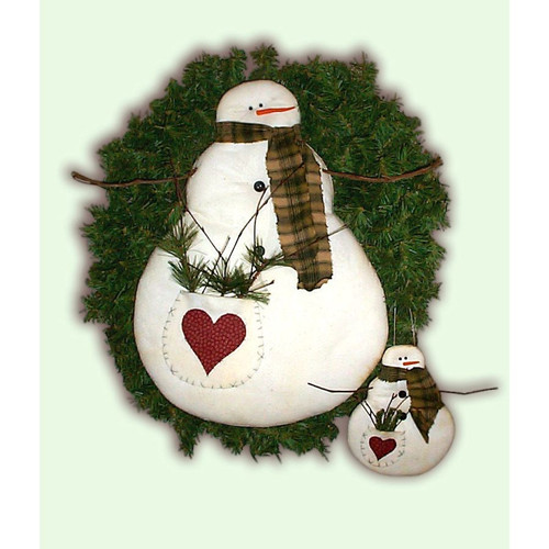 Snowman Ornament Sewing E-Pattern Country Primitive Crafts