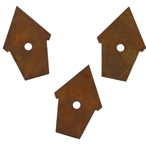 Rusty Tin Peaked Birdhouse Shapes Country Primitive Crafting Supplies