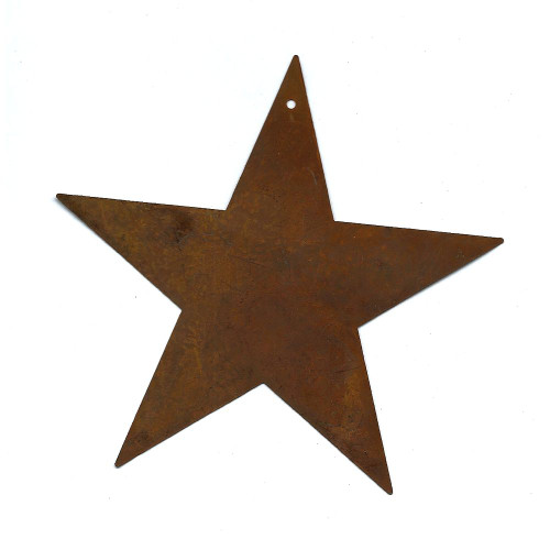 """Extra Large 5-1/2"""" Rusty Tin Standard Star Country Primitive Crafting Supplies"""