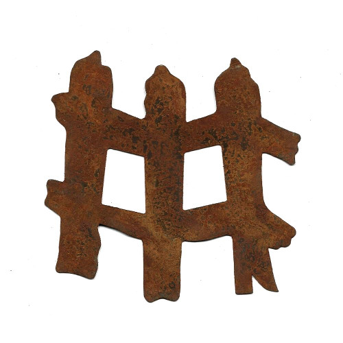 Rusty Tin Fence Shapes Country Primitive Farmhouse Crafting Supplies