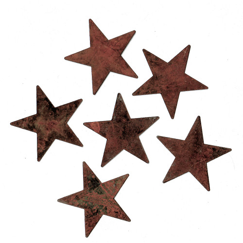 "Rusty Tin 2-1/4"" Standard Stars Country Primitive Crafting Supplies"