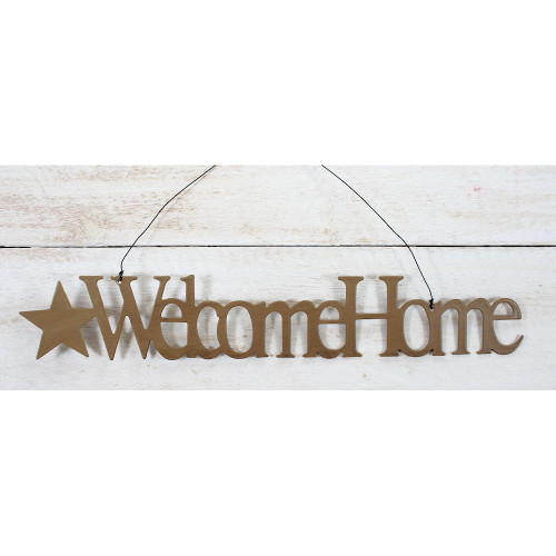 Welcome Home Ornament Mustard Country Primitive Home Decorating