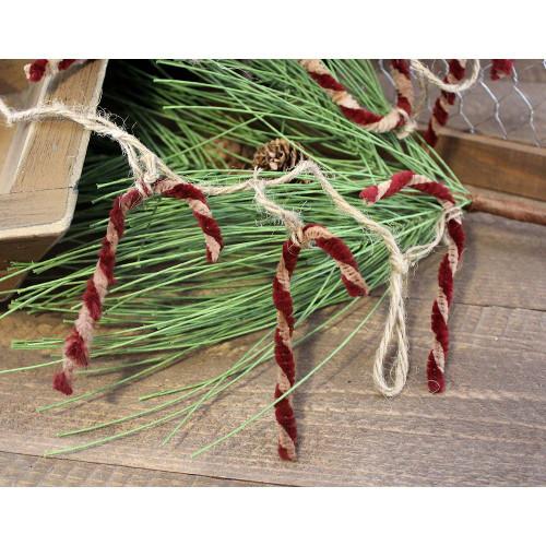 Primitive Candy Cane Garland Country Christmas Home Decor
