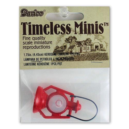 Miniature Dollhouse Red Kerosene Lantern