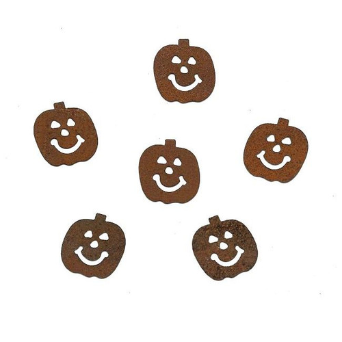 Rusty Tin Jack-O-Lantern Pumpkin Shapes Cutouts