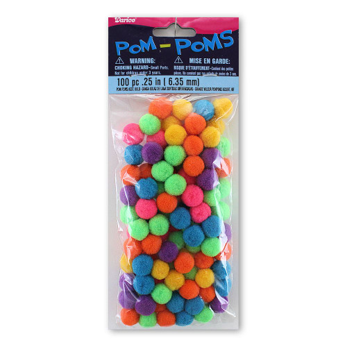 Bold Assortment 1/4 Inch Pom Poms
