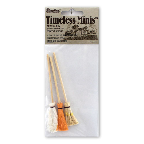 Dollhouse Miniatures Mop Brooms