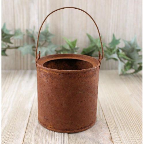 Small Rusty Tin Paint Bucket