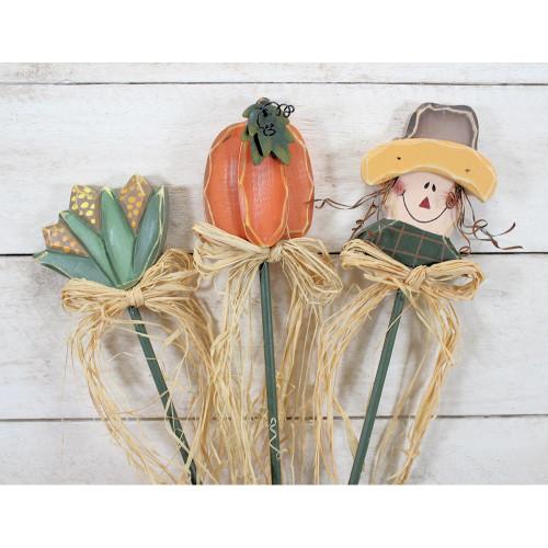 Harvest Picks Pumpkin Corn Scarecrow