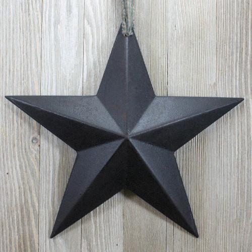 Black Resin Barn Star