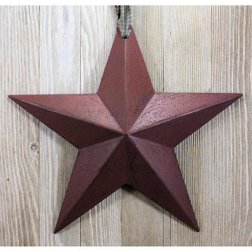 Burgundy Resin Barn Star