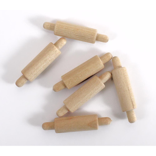 Miniature Unfinished Wooden Rolling Pins