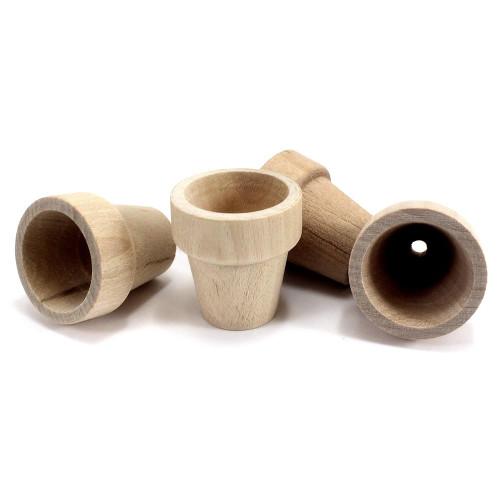 Unfinished Wooden Flower Pots