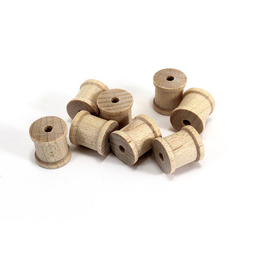 Miniature Unfinished Wooden Spools