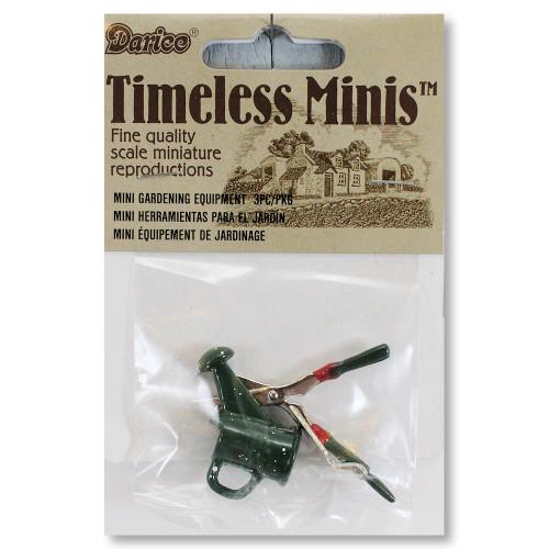Dollhouse Miniature Metal Gardening Tool Set