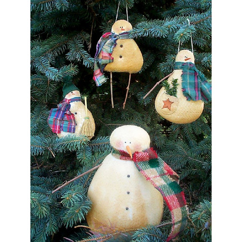 Country Primitive Snowman Ornaments PDF E-Pattern