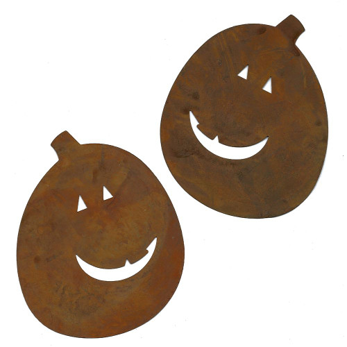 Rusty Tin Jack-O-Lantern Pumpkin Shapes