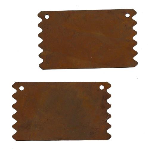 Rusty Tin Ragged Edge Signs