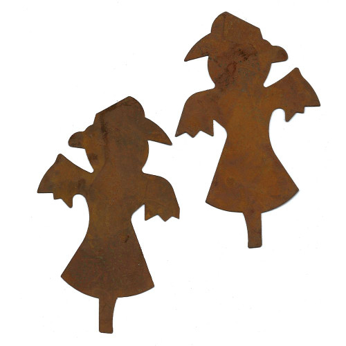 Rusty Tin Scarecrow Shapes