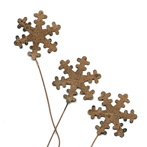 Rustic Snowflake Picks