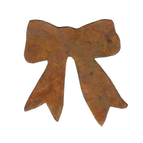 Rusty Tin Bow Shape