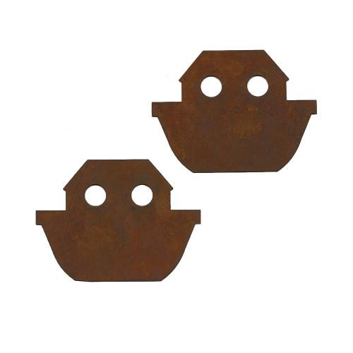 Rusty Tin Ark Shapes
