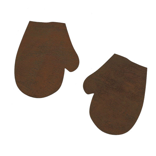 Rusty Tin Mitten Shapes