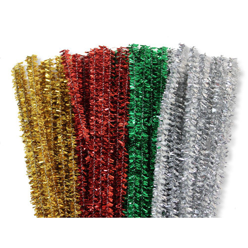 6mm Christmas Tinsel Stems