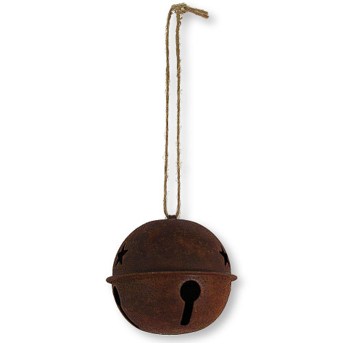 60mm Rusty Sleigh Bell Ornament