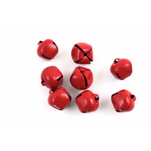 15mm Glossy Red Jingle Bells
