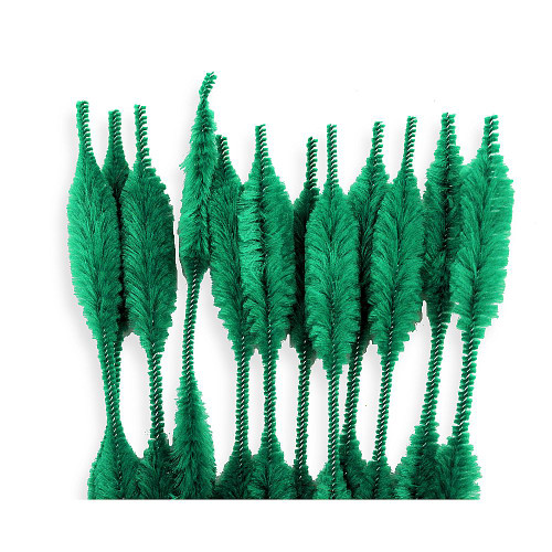 Green Bump Chenille Stems