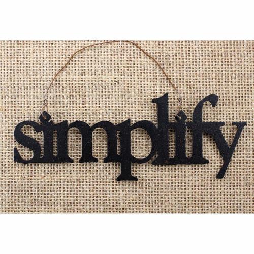 Simplify Tin Word Ornament