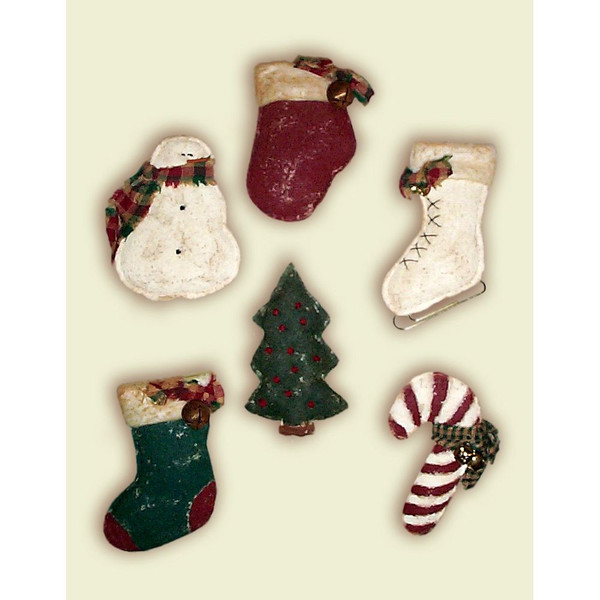 Puff Painted Holiday Pins Pattern