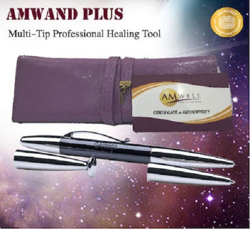 AMWAND PLUS- MULTI-TIP PROFESSIONAL ENERGY HEALING TOOL WITH AMWAND BLACKTIP - FREE (WORTH USD259)