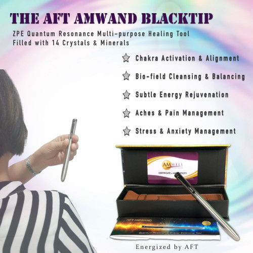 AMwand Black Tip- Multipurpose Energy Healing Tool
